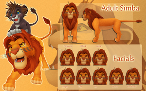 Adult Simba V.2 by MMDFakewings18
