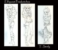 Elfquest presketches by TLSeely
