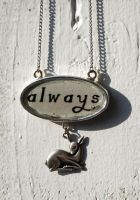 Always Silver Doe Necklace by kittykat01