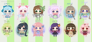 Adoptable Set - Months Theme [OPEN (LOWER PRICE)] by Aquarika