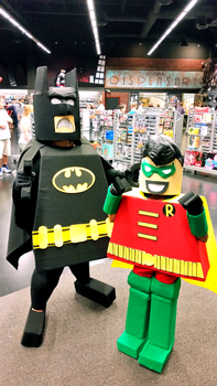 Lego Batman and Robin by AliceingJabberwocky