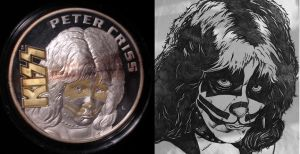 Peter Criss Coin and Artwork by Mr-Mordacious
