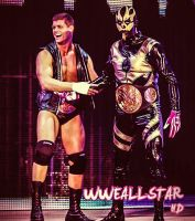 New WWE Tag Team Champions CR And Goldust by WWEAllStarHD