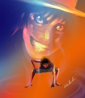 Luffy Second Gear by MasterOfElements
