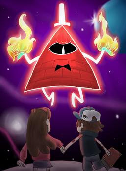 Commission: Dipper and Mabel vs Bill Cipher by fimoman