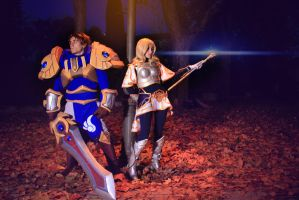 Lux and Garen by NunnallyLol