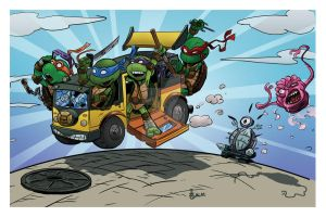 Tiny Mutant Ninja Turtles Colored by irongiant775