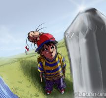 EarthBound: Pencil Eraser? by kalicothekat