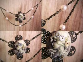 Steampunk Cameo Necklace by SailorFran