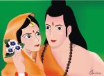 Ram and seeta by RockyRajesh