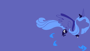 Luna Minimalistic Wallpaper by Kitana-Coldfire
