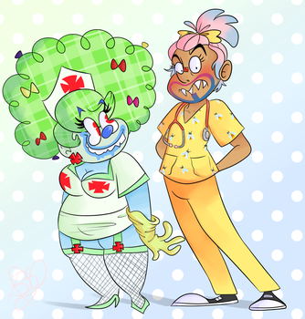 Nurse Ribbons And Dr. Bogdan by saladwitch