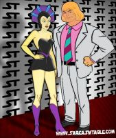 He-Man and Evil Lyn by Irishmile