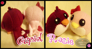 Little Litters - Cupid and Rosie - Plush by Sparkle-And-Sunshine