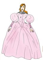 Mirror Mirror Evil Fairy's pink gown by Selinelle