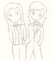 Sherlock And Doctor Girls by drawingdream