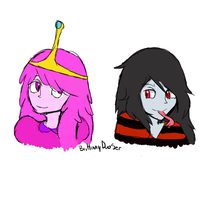 princess bubblegum and marceline (ANIME) by brittanyduoser