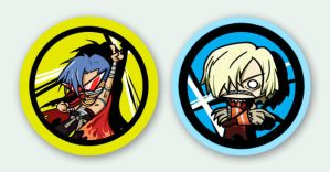 SD buttons - viral + kamina by zelas