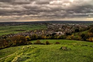 Looking across Glastonbury by CharmingPhotography