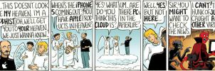 Steve Jobs In Heaven by DanDougherty