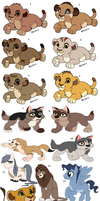 New Point TLK adoptables plus oldies by Claire-Cooper