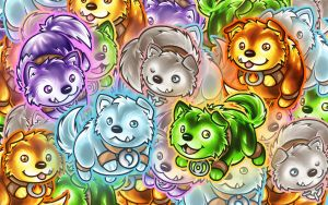 Puppies! by Noxychu