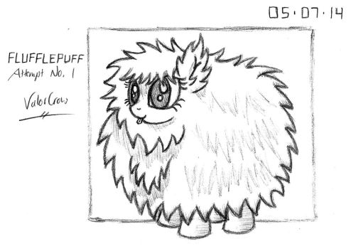2014-05-07-Flufflepuff, Attempt 01 by Valorcrow