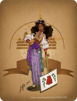 Disney steampunk: Esmeralda by MecaniqueFairy