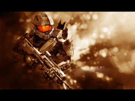 Halo 4 Master Chief iPad Wallpaper 2 by Smyf