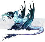 Commission - Ice Drake by AbelPhee