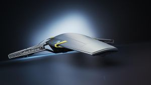 Spaceship - front view by curux