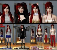 Erza Scarlet - Titania - by NGSims3 Sims3 by ng9