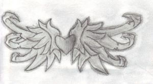 Angel Wings Drawing by Fallnangel7