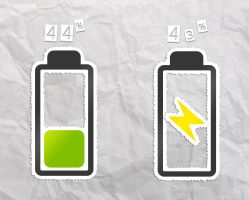Sticko Battery HD for xwidget by jimking