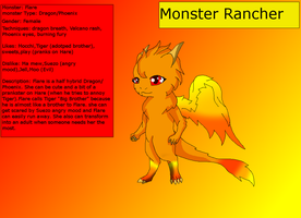 Monster rancher OC Flare by HeroHeart001