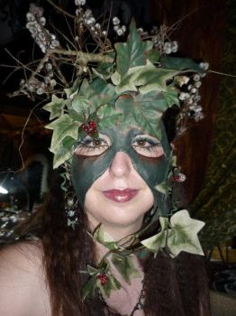 Greenwoman mask finished by Starleaf-Creations
