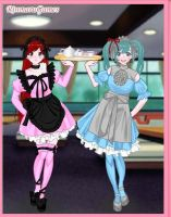 Lexsy and Miku Best friends forever by Delexsy