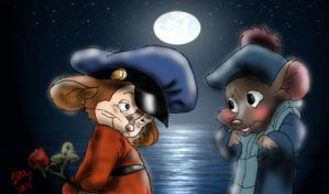 Fievel and Olivia by The-B-Meister