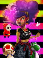 Afro Gamer by VickiBeWicked