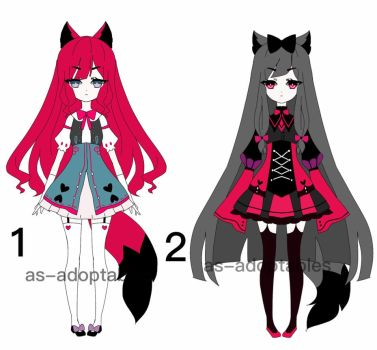 Kemonomimi girls adoptables closed by AS-Adoptables