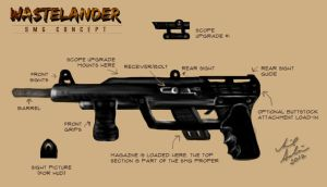 SMG Concept Art - Wastelander by aibrean