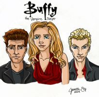 BUFFY, ANGEL, AND SPIKE by Angel-vs-Buffy