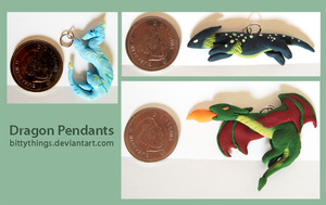 Dragon Pendants by Bittythings