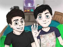 Dan And Phil  by ItsSianan
