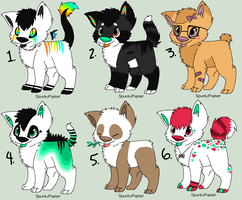 Adoptable batch - OPEN (1 LEFT) by SpunkyAdopts