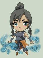 Water Bender Korra by ladyakemi