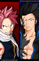 Fairy Tail -Gray Vs Natsu- -Collab- by Frosch-Sama08