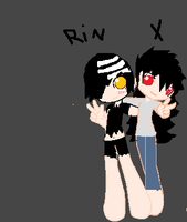 rin and X by invaderSMEET