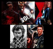 Glebe Movie Marvel Personal Sketch Cards For Sale by Twynsunz