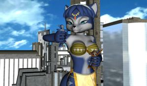 Krystal Perusing the Town by nintendo1889m